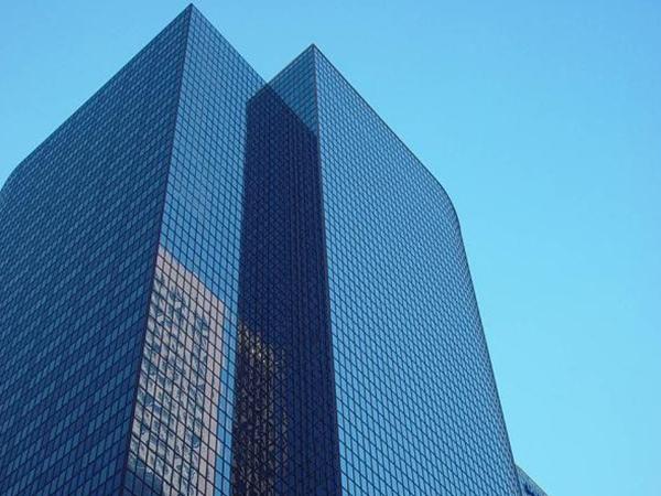 福特蓝镀膜幕墙玻璃